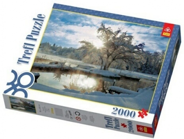 Пазл Восход над зимним озером 2000 эл 27044