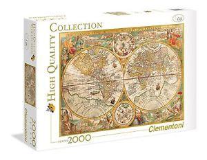 Пазл Старинная карта мира 2000 эл 32557