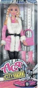 Городской стиль, набор с куклой 28 см., блондинка с косичками, Ася 35069