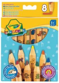 Крайола 8 цветных карандашей из  красного дерева 3678