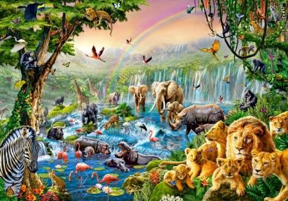 Пазл Река джунглей 500 эл 52141
