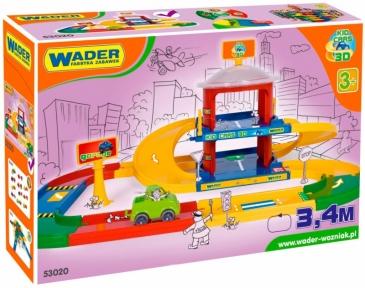 Гараж 2 этажа с дорогой 3,4 м Kid Cars, Wader 53020