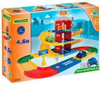 Паркинг 3 этажа с дорогой 4,6 м Kid Cars, Wader 53040