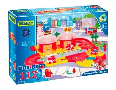 Kid Cars 3D - набор пожарная, Wader 53310