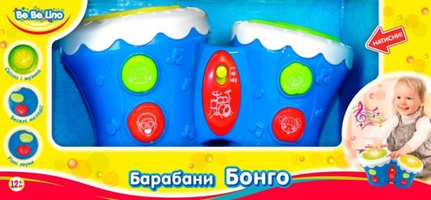 Барабаны Бонго синие (укр. упаковка) 57032-2