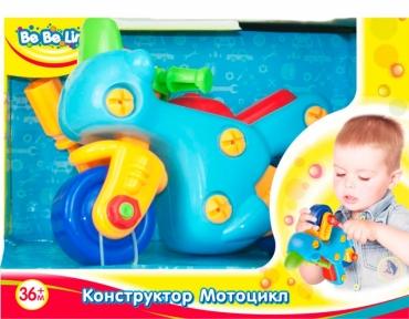 Детская игрушка-конструктор Мотоцикл (укр. упаковка) 57082