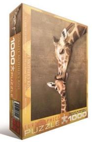 Пазл Жирафы поцелуй матери 1000 эл 6000-0301