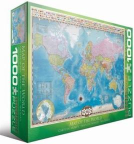 Пазл Карта мира 1000 эл 6000-0557