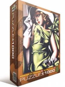 Пазл копия картины Девушка в зеленом Тамар Лемпинская 1000 эл 6000-1058