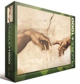 Пазл копия картины фрагмент Сотворение Адама Микеланжело 6000-2016