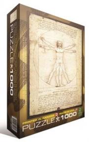 Пазл копия картины Витрувианский человек Леонардо да Винчи 1000 эл 6000-5098
