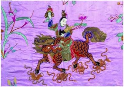 Пазл Editions Ricordi  Китайское божество и огненный Кайлин 2000 эл. 6001n33011