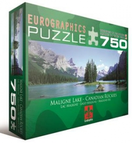 Пазл Канадские Скелистые горы озеро Малайн 750 эл 6005-1418