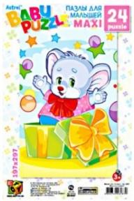 Пазлы для малышей Мышонок-подарок 24 эл мягкие 6287