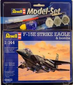 Model Set Истребитель F-15E STRIKE EAGLE & bombs, 1:144, Revell 63972