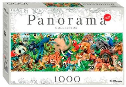 Пазл Мир Животных 1000 эл панорама 79402