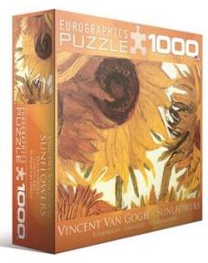 Пазл копия картины Двенадцать подсолнухов фрагмент Винсент ван Гог 1000 эл 8000-0477