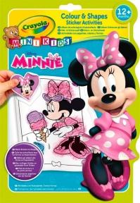Книга раскраска с наклейками Мини Маус Mini Kids 81-1372