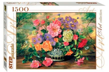 Пазл Цветы в вазе 1500 эл 83019-2