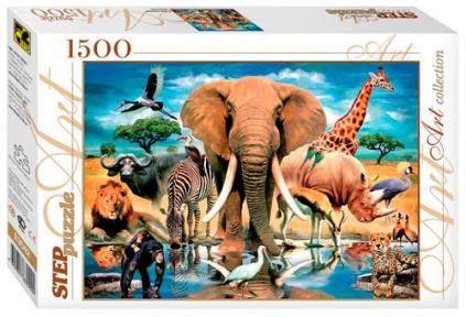 Пазл В мире животных 1500 эл 83042