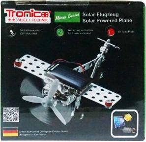 Конструктор металлический Самолет на солнечной батарее (69 дет.), Tronico, Solar powered plane 69 деталей 9605-1