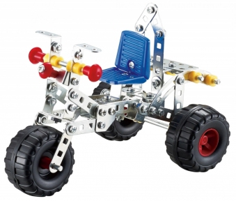 Металлический конструктор, Трехколесный велосипед, (166 дет.), Tronico, Трехколесный велосипед 9725-3