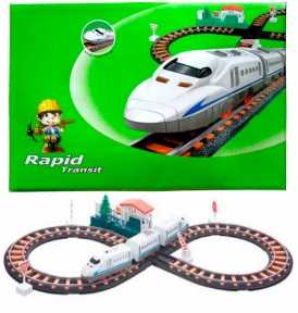Железная дорога с поездом 78 х 36 см LiXin 9913