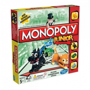 Моя первая монополия - экономическая настольная игра, Monopoly, Hasbro A6984121