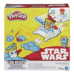 Игровой набор пластилина Люк Скайуокер и Снежный Штурмовик, Звездные войны, Play-Doh, белый B0595-2
