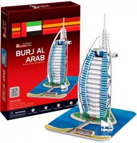Трехмерная головоломка-конструктор Отель Бурж Эль Араб (Дубаи), CubicFun C065h-2