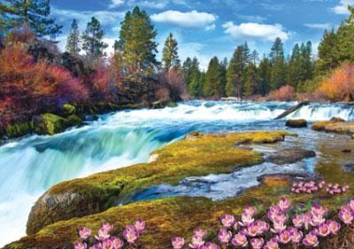 Пазл Горный водопад 1000 эл C1000-07-03