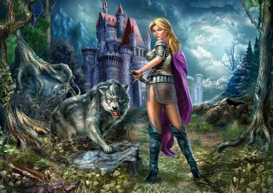 Пазл Воинственная волчица 1000 эл C1000-08-03