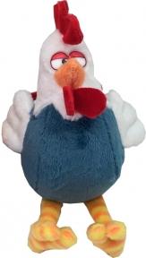 Мягкая игрушка Петушок белый с синим, 12 см D1525512C-1