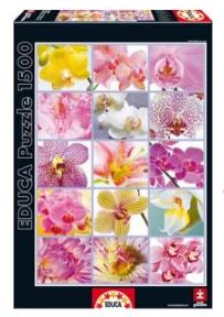 Пазл Цветочный коллаж 1500 эл EDU-16302