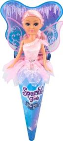 Ледяная фея Оливия в розовом платье (25 см), Sparkle girlz, Funville, розовое платье FV24008-2