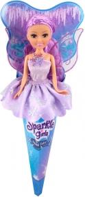 Ледяная фея Эмили в сиреневом платье (25 см), Sparkle girlz, Funville, фиолетовое платье FV24008-4
