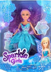 Ледяная фея Хлоя в голубом платье с аксесс. (25 см), Sparkle girlz, Funville, голубое платье FV24015-1