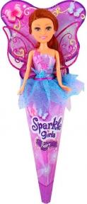 Волшебная фея Николь в сиренево-голубом платье с роз. крыльями (25 см), Sparkle girlz, Funville, шатенка в сиренево-голубом FV24110-4