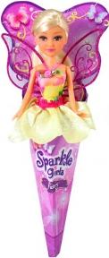 Волшебная фея Бриана в желтом платье с роз. крыльями (25 см), Sparkle girlz, Funville, блондинка в желтом FV24110-1