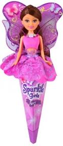 Волшебная фея Натали в лиловом платье с лиловыми крыльями (25 см), Sparkle girlz, Funville, брюнетка в лиловом FV24110-2