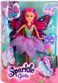 Волшебная фея-бабочка Тейлор в сиреневом платье (25 см), Sparkle girlz, Funville, розовые волосы FV24389-2
