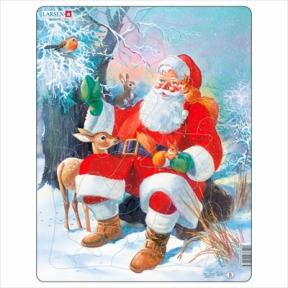Пазл Дед Мороз в лесу, серия Макси 32 эл JUL7