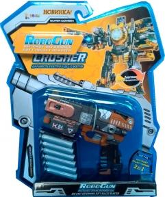 Пистолет-трансформер 2 в 1 CRUSHER (6 мягких пуль, блистер), RoboGun K04
