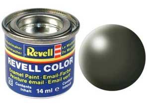 Краска эмалевая Revell № 361 Оливково-зеленая шелково-матовая 14 мл