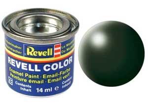 Краска эмалевая Revell № 363 Темно-зеленая шелково-матовая 14 мл