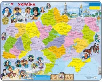 Пазл Larsen Карта Украины история K62