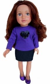 Кукла Лили 46 см, длинные волосы KK3883