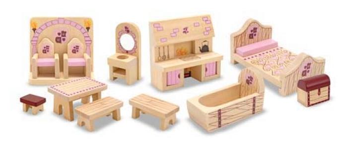 Мелисса и Дуг MD13570 Набор мебели для замка принцессы MD13570