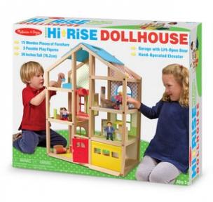 Мелисса и Дуг MD2462 Кукольный домик с подъемником и мебелью MD2462