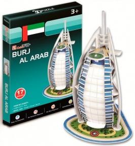 Трехмерная модель Бурдж-эль-Араб, 17 дет. CubicFun S3007h